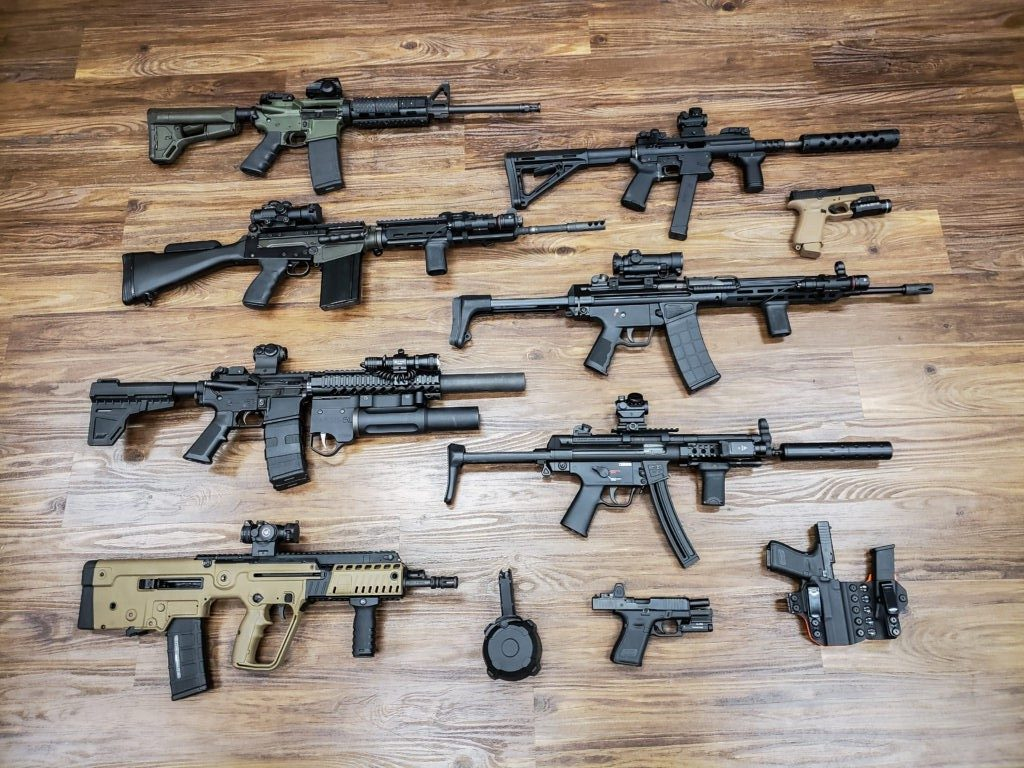 Different Guns At Rich's Gun Shop