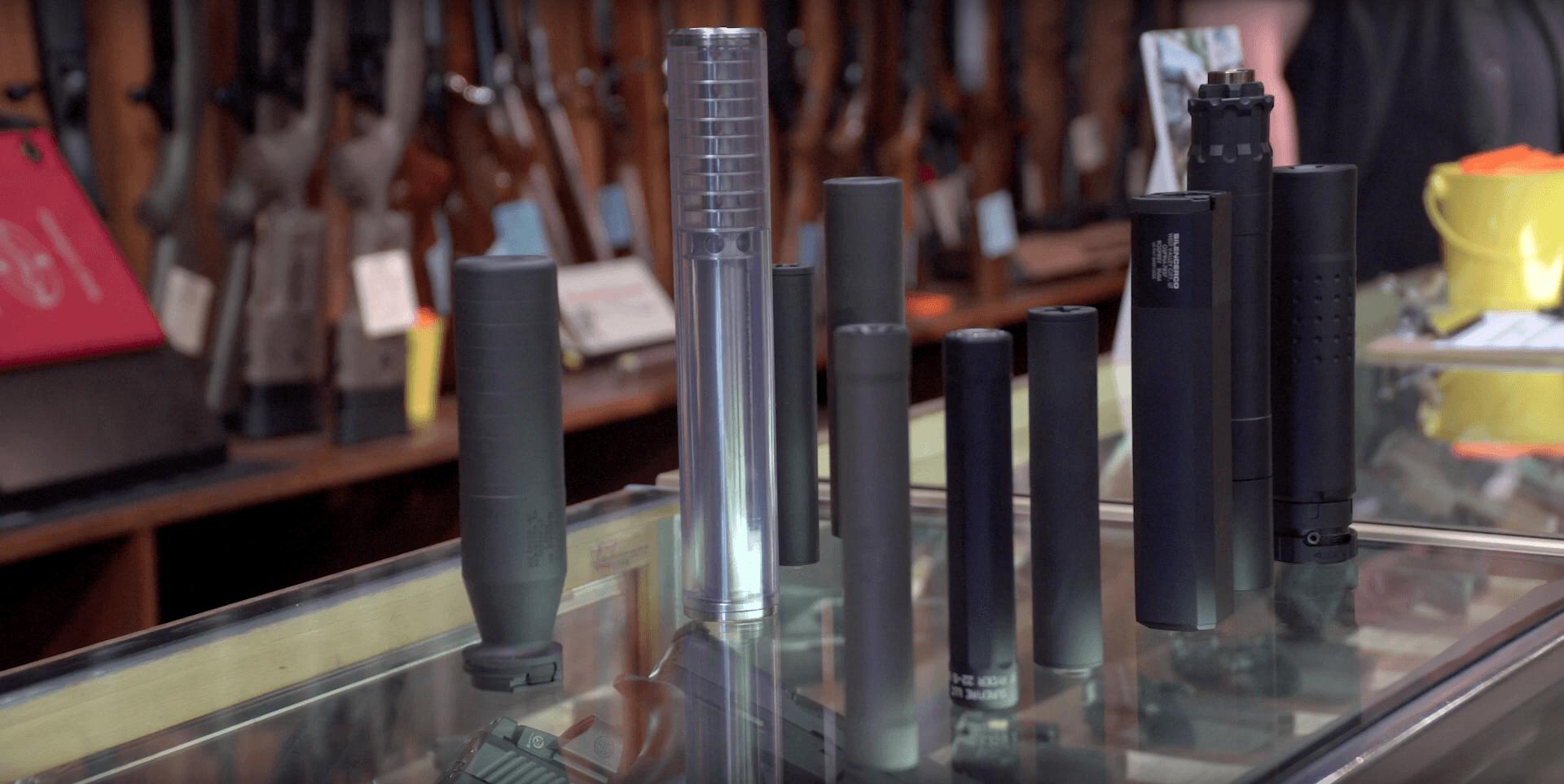 Suppressors at Rich's Gun Shop