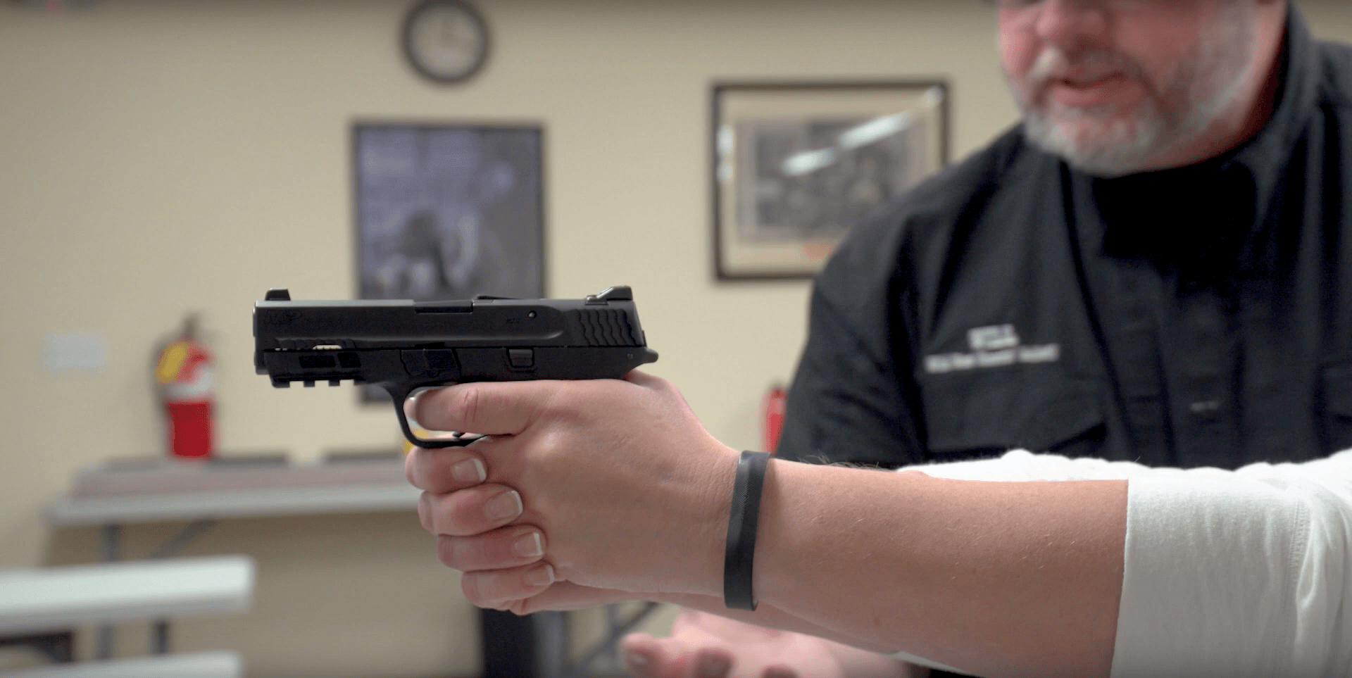 Firearm training at Rich's Gun Shop