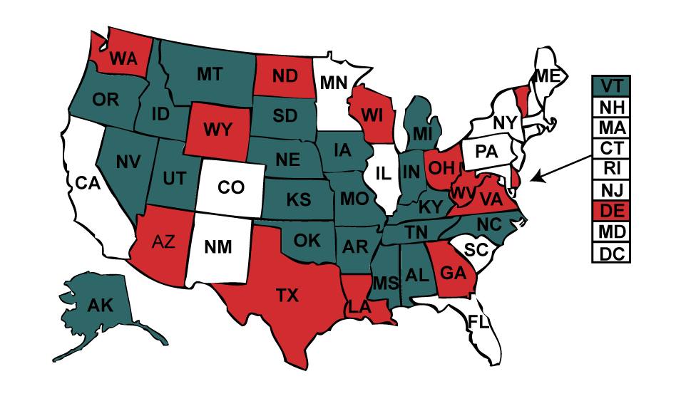 Concealed Carry Handgun License Map